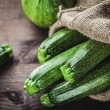 Zucchini in sack — Stock Photo
