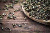 Hojas de té verde — Foto de Stock