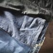 Stock Photo: Jeans variety of colors