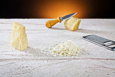 Grated parmesan cheese — Stock Photo
