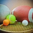Stock Photo: Assorted sports equipment