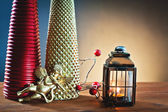 Christmas atmosphere with lighting — Stock Photo