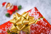 Gift golden bow — Stock Photo
