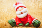 Santa Claus in golden atmosphere — Foto Stock