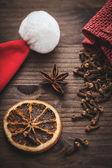 圣诞香料 — 图库照片