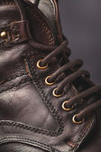 Men's boot closeup — Stock Photo