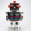 Toy robot isolated on white - Stock Photo
