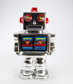Toy robot isolated on white — Stock Photo