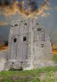 Ruines du château de corfe — Photo