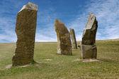 Stojící kameny proti modré obloze — Stock fotografie