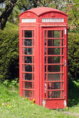 Traditional English red telephone box — Stock Photo