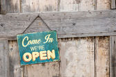 Open Sign — Stock Photo