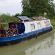 Old narrow boat, barge, England — Stock Photo