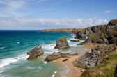Bedruthan steps beach, Cornwall, England — Stock Photo