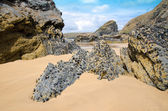 Bedruthan kroky beach, cornwall, Anglie — Stock fotografie