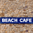Beach Cafe Sign — Stock Photo