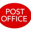 Stock Photo: British post office sign