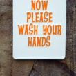 Stock Photo: Wash your hands sign