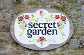 Secret garden sign — Stock Photo
