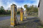 Old gasoline pumps — Stockfoto