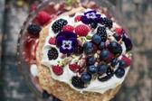 Fruit and Cream Pancakes — Stock Photo