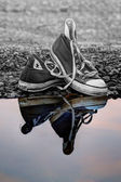 Reflective trainers — Stock Photo