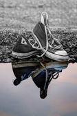 Reflective trainers — Stock Photo