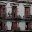Stock Photo: Old balconery in LHavana