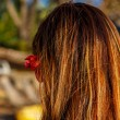 Girl with flower in hair — Stock Photo #45121435