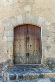 Old wood door — Stock Photo