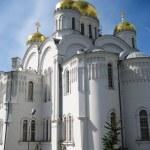 Постер, плакат: Cathedral in St Seraphim Diveevskiy monastery