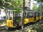 Milanos spårvagnar — Stockfoto