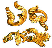 Gold baroque — Stock Photo