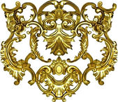 Baroque ornate art gold ornament textile fashion frame — Stock Photo