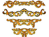Baroque golden — Stock Photo