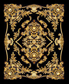Golden baroque ornate — Stock Photo