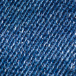 Blue Jean-Denim Texture — Stock Photo