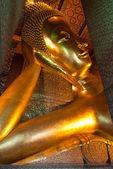 Reclining Buddha in Wat Pho Temple, Bangkok, Thailand — Stock Photo