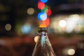 Bokeh into the bottle — Stock Photo