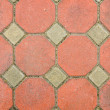 Red Stone Block Paving, Footpath Pattern (Background) — Stock Photo