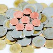 Thai Baht Coins background — Stock Photo
