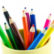 Close-up color pencils — Stock Photo
