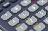 Close-up of calculator buttons — Stock Photo