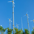 Wind turbines with blue sky — Stock Photo