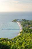 Bird eye view of Samae Beach — Foto de Stock