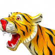 Tiger statue on isolated background — Stock Photo #37291425
