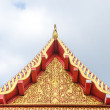 Stock Photo: Tympanum of thai roof temple