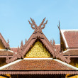Wood gable roof on Thai temple — Stock Photo
