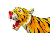 Tiger statue on isolated background — Stock Photo