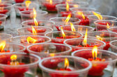 Flower candle in Chinese temple — Stock Photo